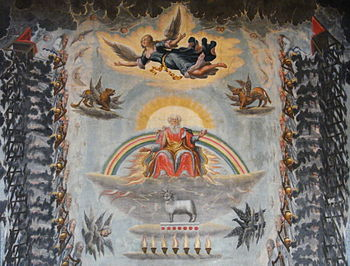 English: Ceiling painting, Book of Revelation,...