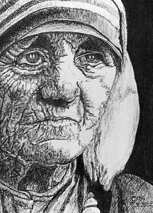 300px Bic biro mother teresa by dylangill d2ykzy0 Inspirational Quote of the Day