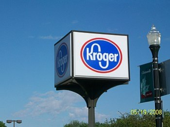 Kroger sign at North High Street and West Nort...