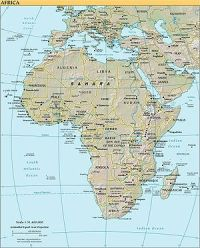 Map of Africa (note that this map is outdated ...