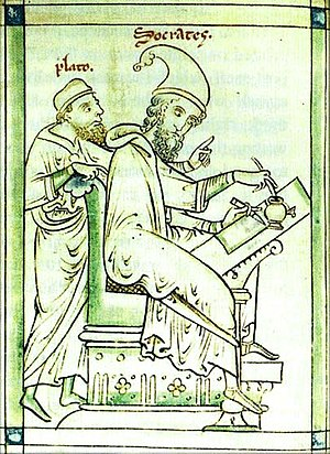 Plato and Socrates in a medieval depiction