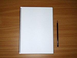 English: Sketch book A4