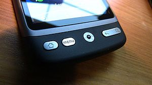 HTC Desire - closeup of optic navigation &quot;...