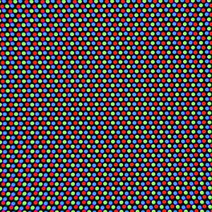 A close-up on a CRT screen