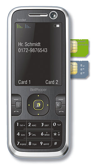A dual-SIM phone.