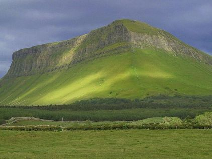 Mount Ben Bulben on a Cloudy Day by Jon Sullivan
