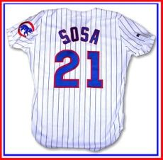 English: Sammy Sosa 1998-99 Chicago Cubs home ...