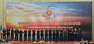 A. K. Antony with Defence Ministers of the ASE...