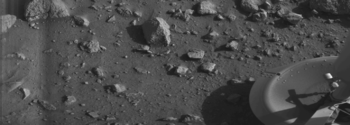 The first image transmitted by the Viking 1 La...