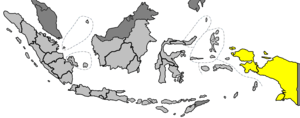 locator map of Indonesian islands