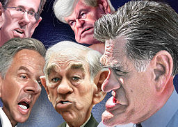 2012 New Hampshire Republican Primary Top Five - Caricatures