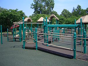 English: This playground was designed to be ac...