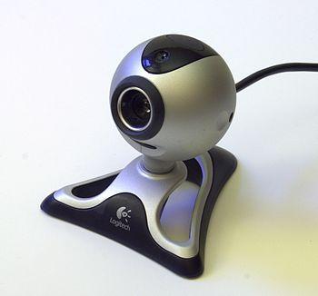English: Logitech Quickcam Pro 4000 webcam (wi...