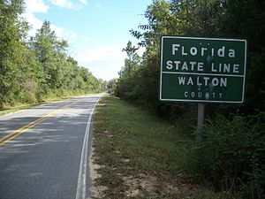 Florida/Alabama border, on County Road 285 nea...