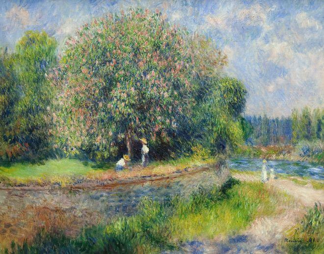 Pierre-Auguste Renoir - Chestnut Tree in Bloom