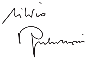 Silvio Berlusconi's signature.