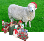 Santa Sheep with presents (created and uploade...
