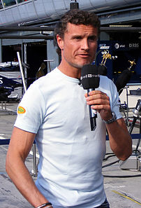 David Coulthard in the pits at the 2007 Italian GP