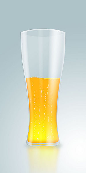 English: A photo shop render of a glass of beer