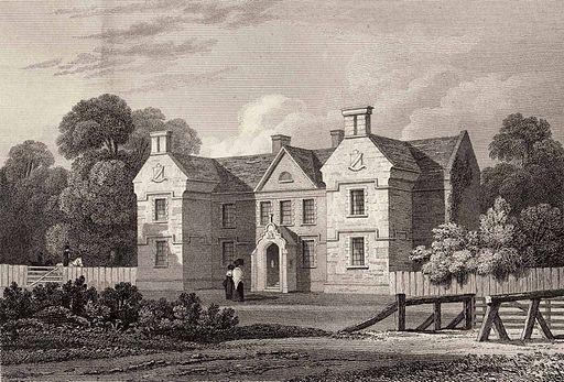 Crotta House, drawn by John Preston Neale, 1823
