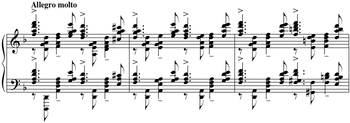 Score of Cadenza from Piano Concerto No. 3