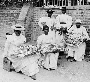 Dessert sellers, Kingston, Jamaica