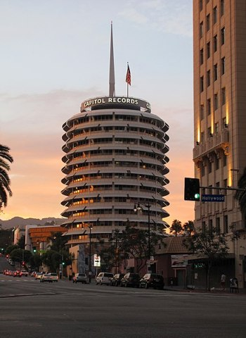 Capitol Records Building at Hollywood Blvd. and Vine