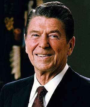 Official Portrait of President Ronald Reagan.