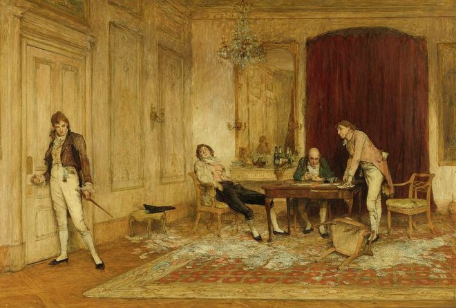 William Quiller Orchardson - Hard hit