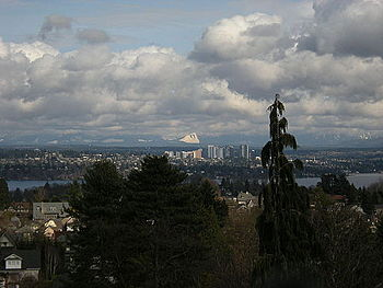 Downtown Bellevue, Washington, seen from the o...