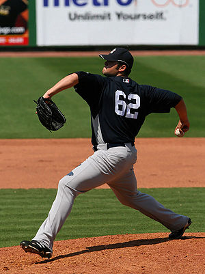 English: Joba Chamberlain, spring training 200...