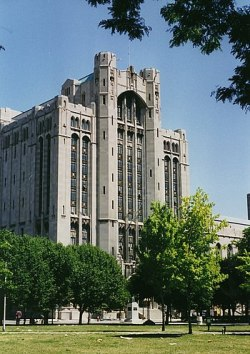 English: The Detroit Masonic Temple (built in ...