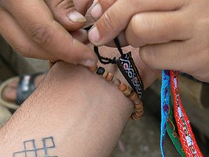 300px Tying friendship bracelet The Games Christians Play
