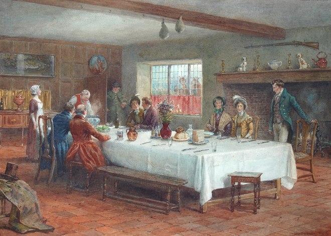 George Goodwin Kilburne A meal stop at a coaching inn