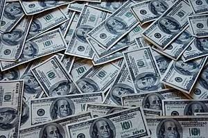 Many dollar banknotes.