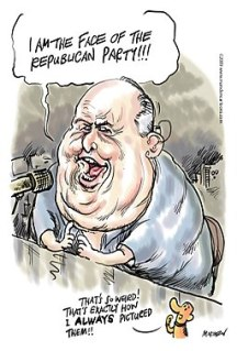 Rush Limbaugh by Ian Marsden