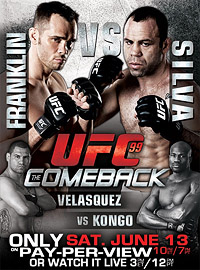A poster or logo for UFC 99: The Comeback.