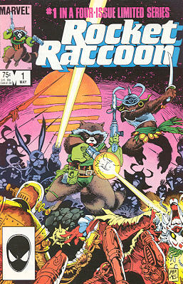 Cover to Rocket Raccoon #1.