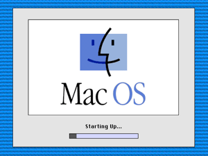 The splash screen under System 8.