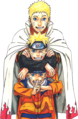 Naruto Uzumaki   Wikipedia Naruto Uzumaki  Part I  Part II and adult wearing his regular orange  jumpsuit