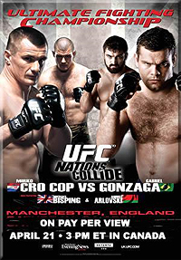 A poster or logo for UFC 70: Nations Collide.