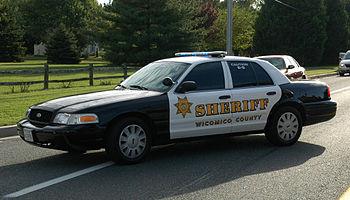 Wicomico County, MD sheriff's deputy patrol car