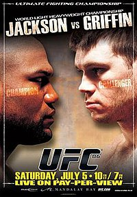 A poster or logo for UFC 86: Jackson vs. Griffin.