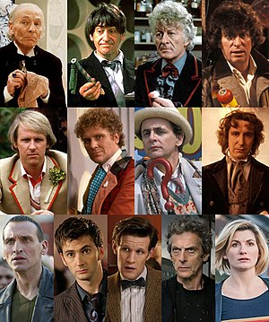 The ten Doctor Who Actors