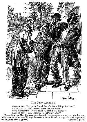 Punch cartoon (1907); illustrates the unpopula...
