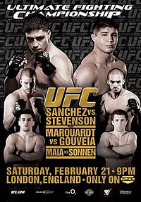 A poster or logo for UFC 95: Sanchez vs. Stevenson.