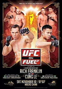 A poster or logo for UFC on Fuel TV: Franklin vs. Le.