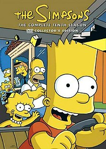 The Simpsons  season 10    Wikipedia The Simpsons   The Complete 10th Season jpg