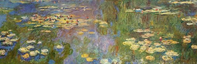 Water Lilies - Claude Monet 1920-1926 Style: Impressionism Series: Water Lilies Genre: flower painting
