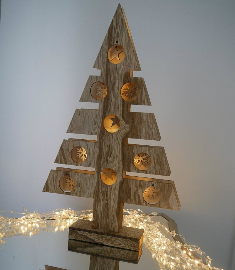 pool rustic wooden light up tree window